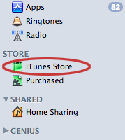 iTunes Store in iTines 10