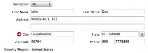 американский адрес для регистрации в iTunes Store
