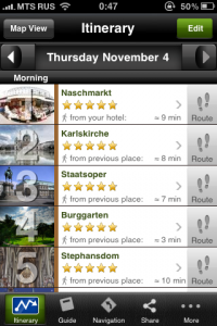 mtrip sample itinerary Vienna