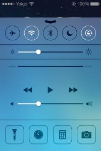 Пункт управления iOS 7
