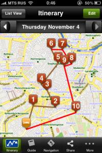 mtrip sample itinerary map Vienna