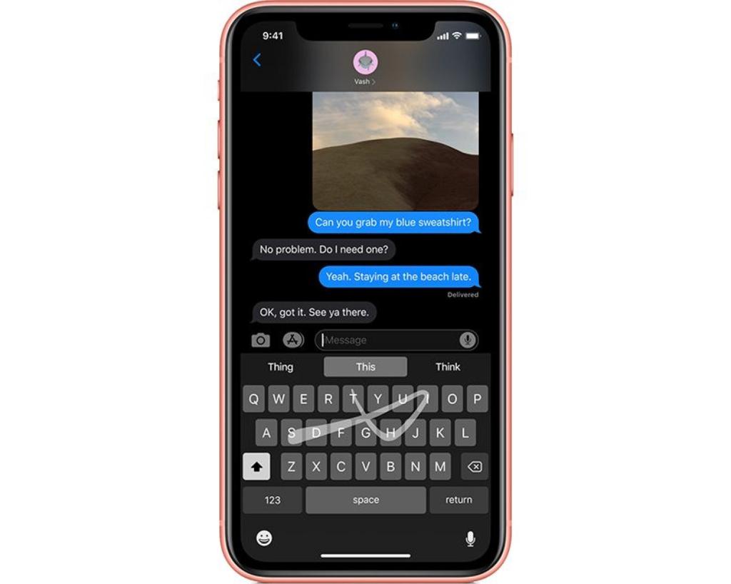 Новая клавиатура Quickpath в iOS 13