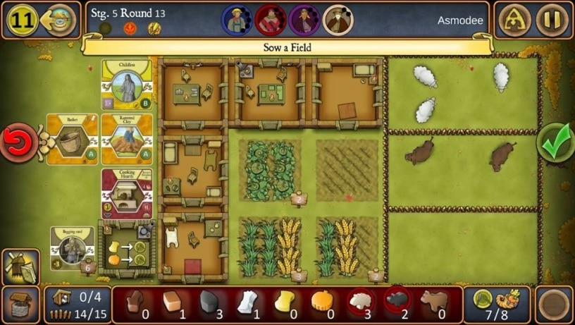 agricola - настольная игра для айфона